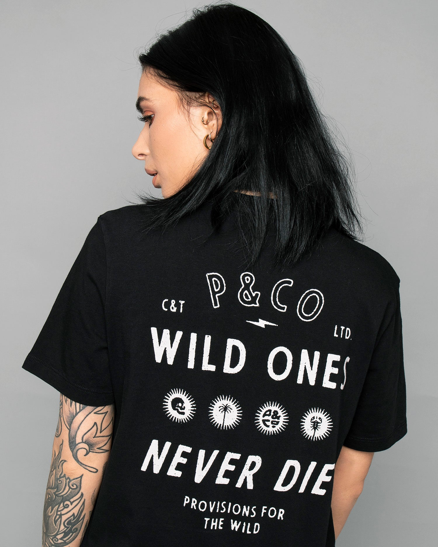 Provisions for the wild Womens Black T-Shirt