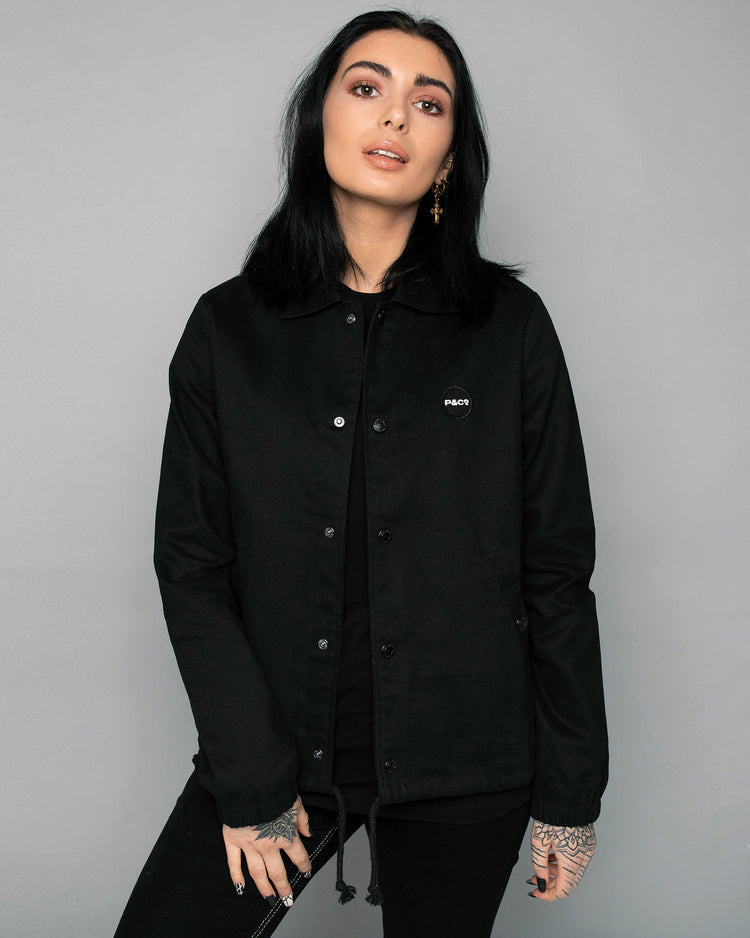 P&Co Logo Black Coach jacket