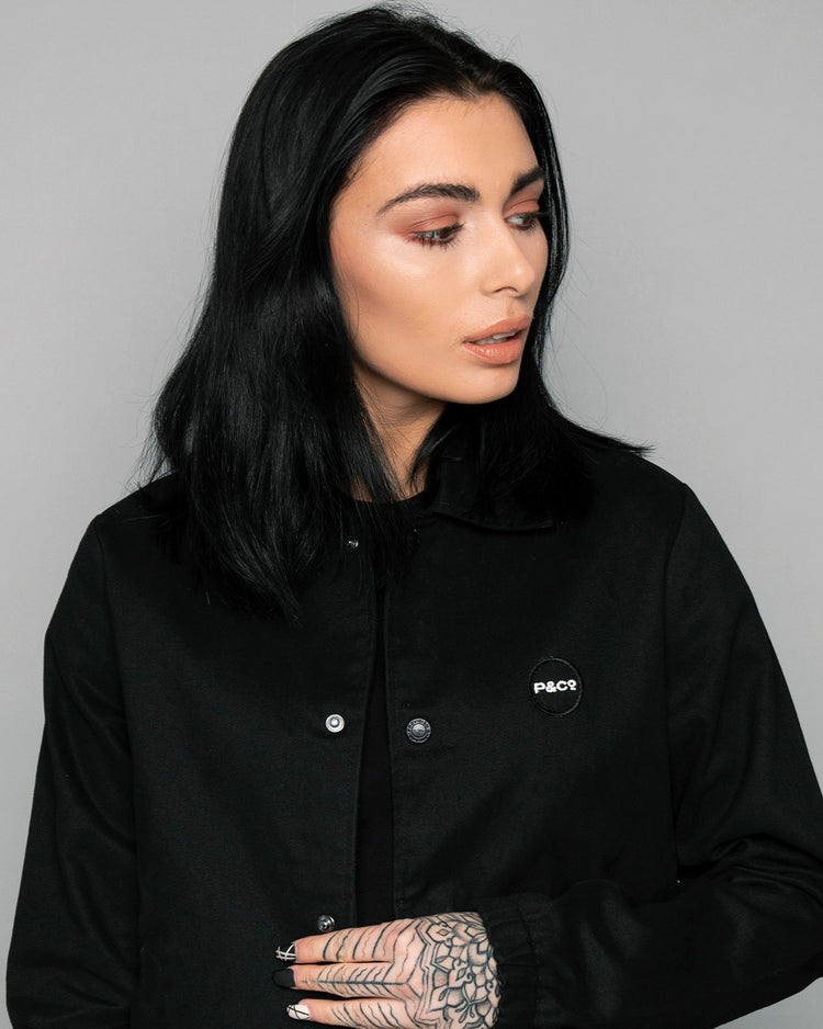 Womens P&Co Logo Black Coach jacket