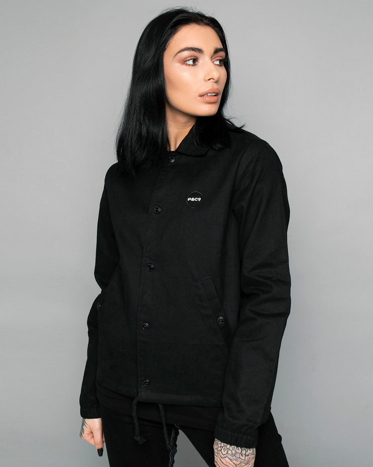 P&Co Womens Logo Black Coach jacket