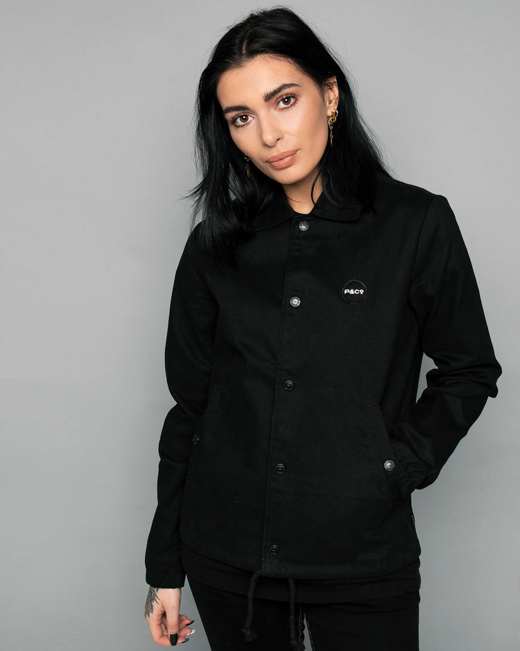 P&Co Logo Black Coach Womens jacket