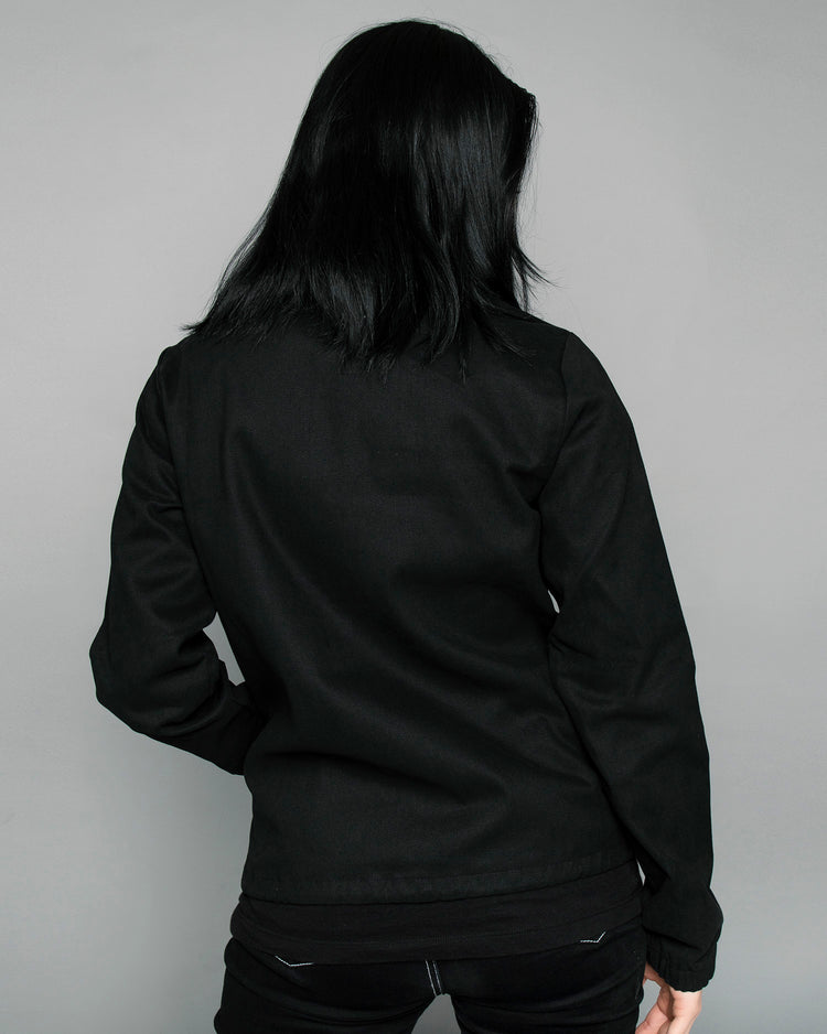 Pandco Womens Logo Black Coach jacket