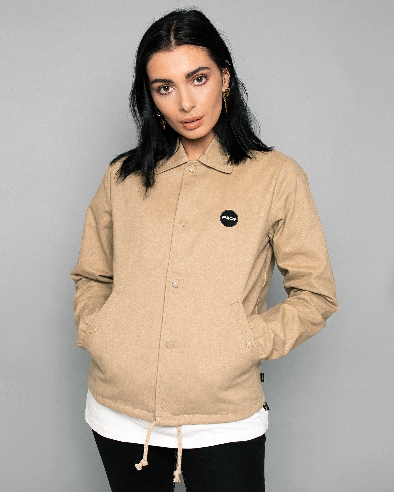 P&Co Logo Stone Coach jacket For women