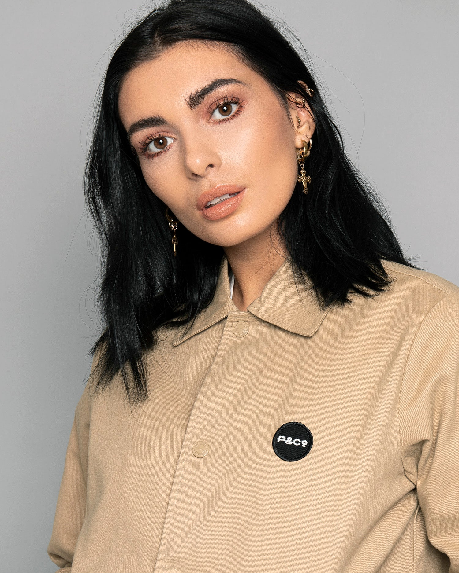 P&Co Logo Stone Womens Coach jacket