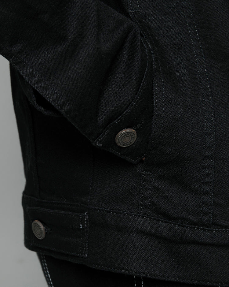 Origin Black Denim Jacket Custom Cuffs