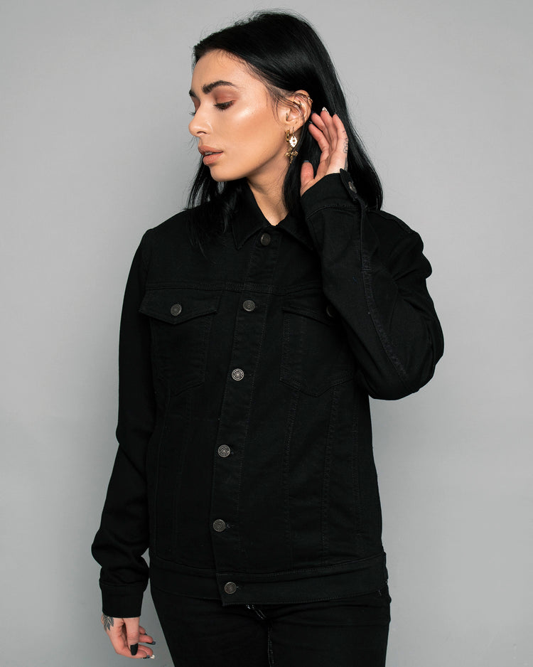 Origin Womens Black Denim Jacket