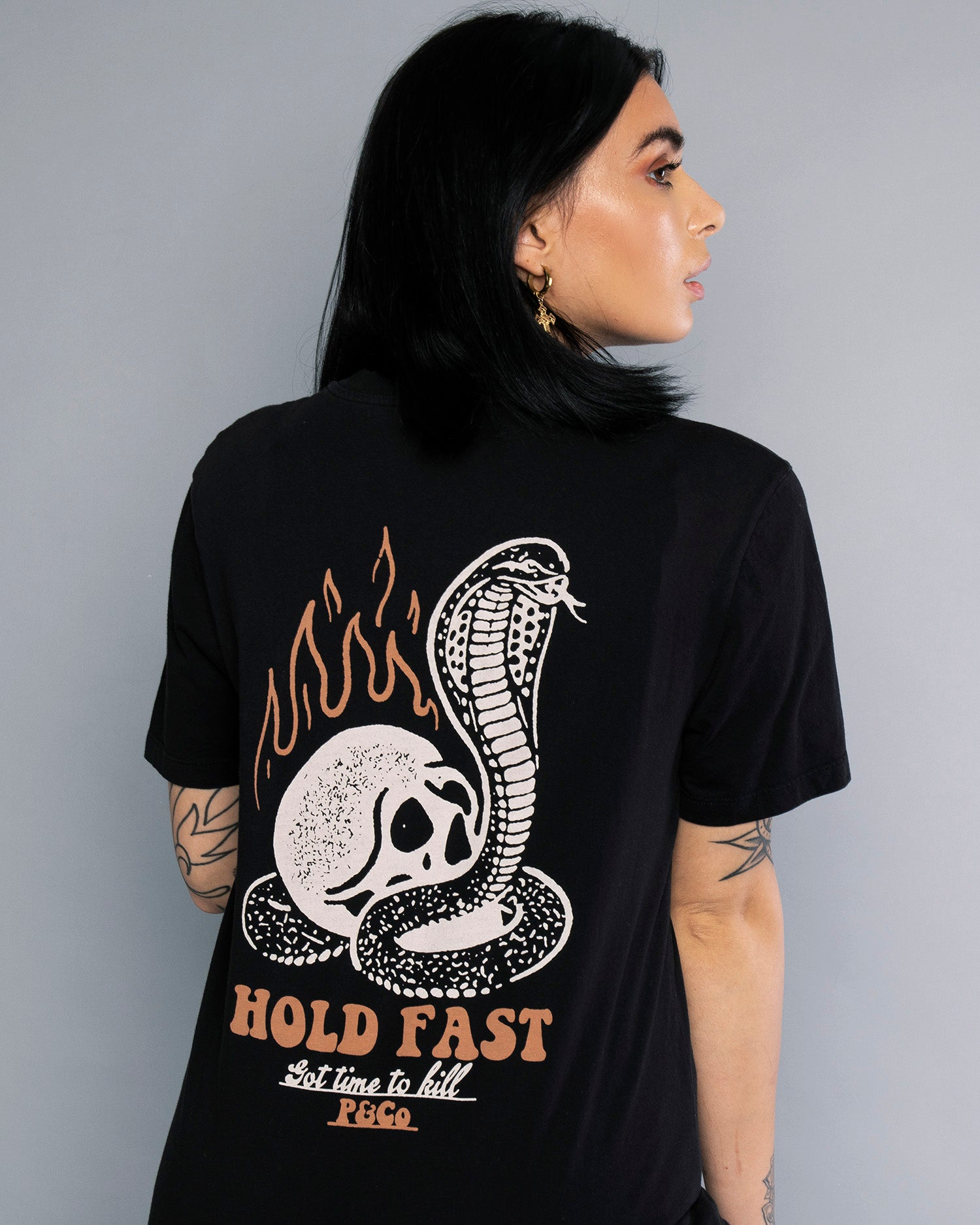 Got Time To Kill Womens Black Printed T-Shirt