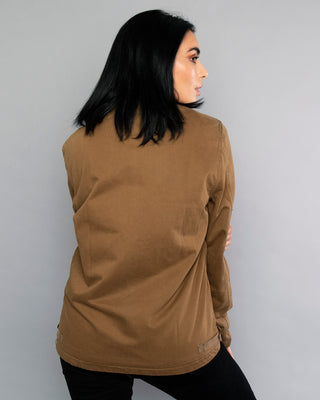 Womens Lone Skull Khaki Deck Jacket