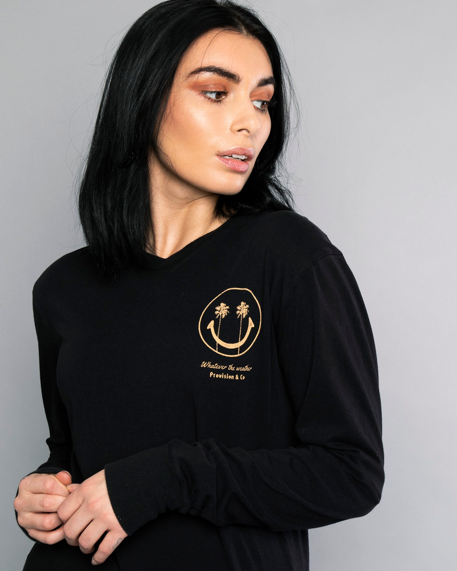 Whatever The Weather Womens Black Long Sleeve Tee