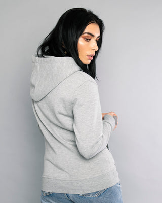 Mechanic Grey Womens Zip Up Hoodie