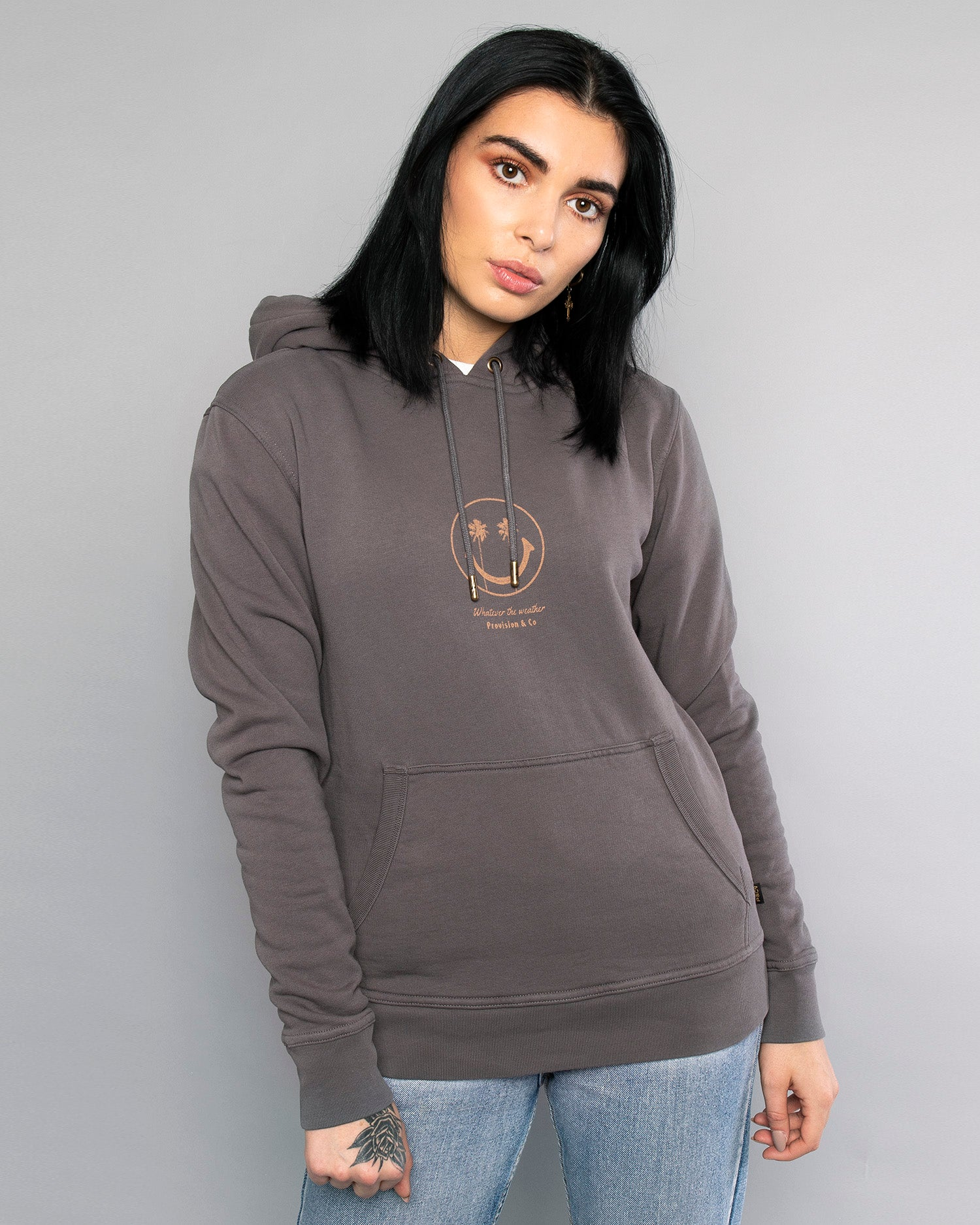 Whatever The Weather Pullover womens Grey Hoodie