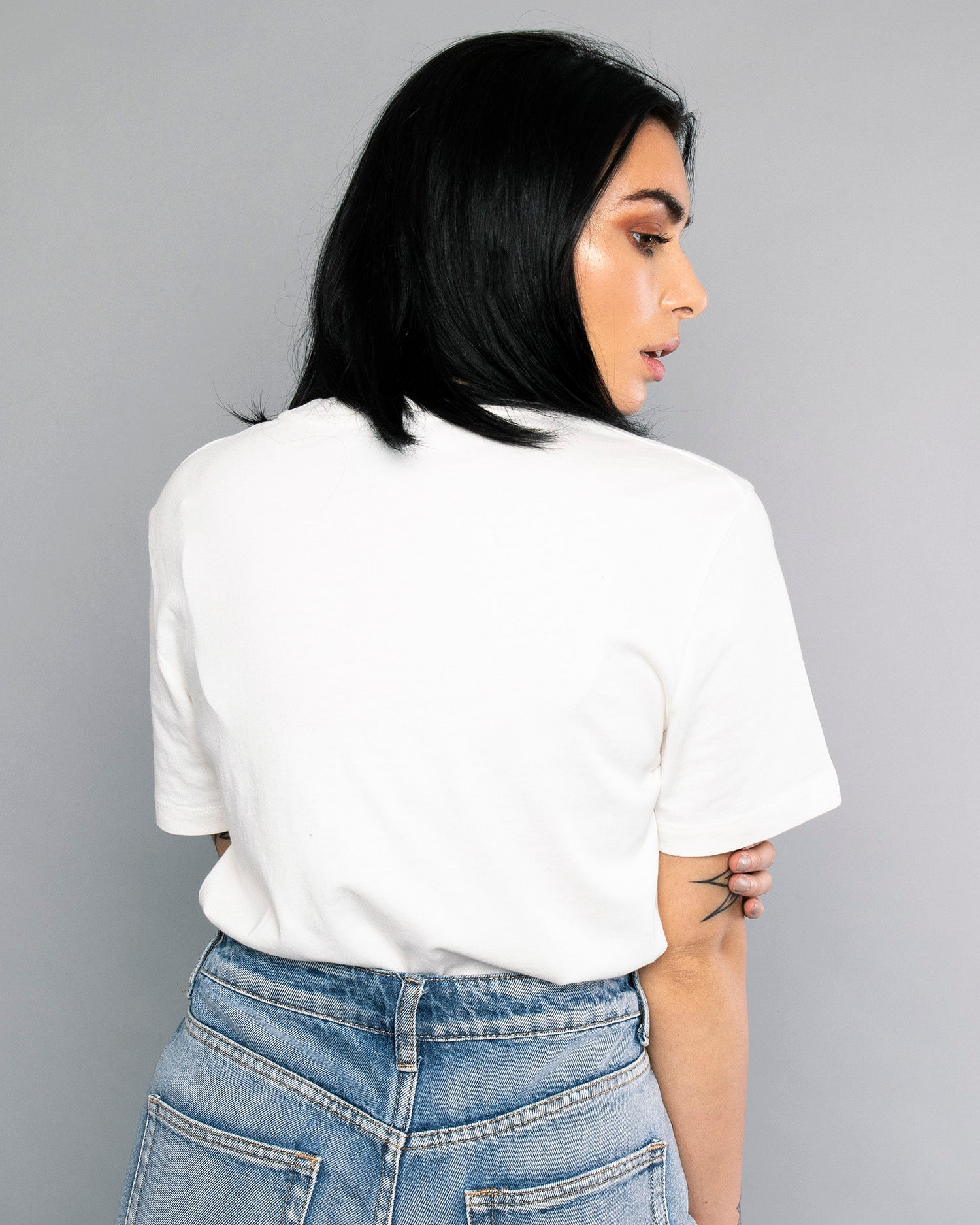 Womens Bolt Pocket White Tee