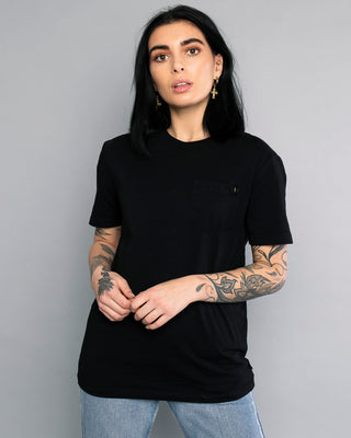 Bolt Plain Black Womens Tee