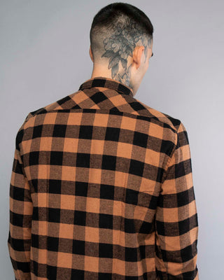 Mens Flannel Shirt Rust / Orange