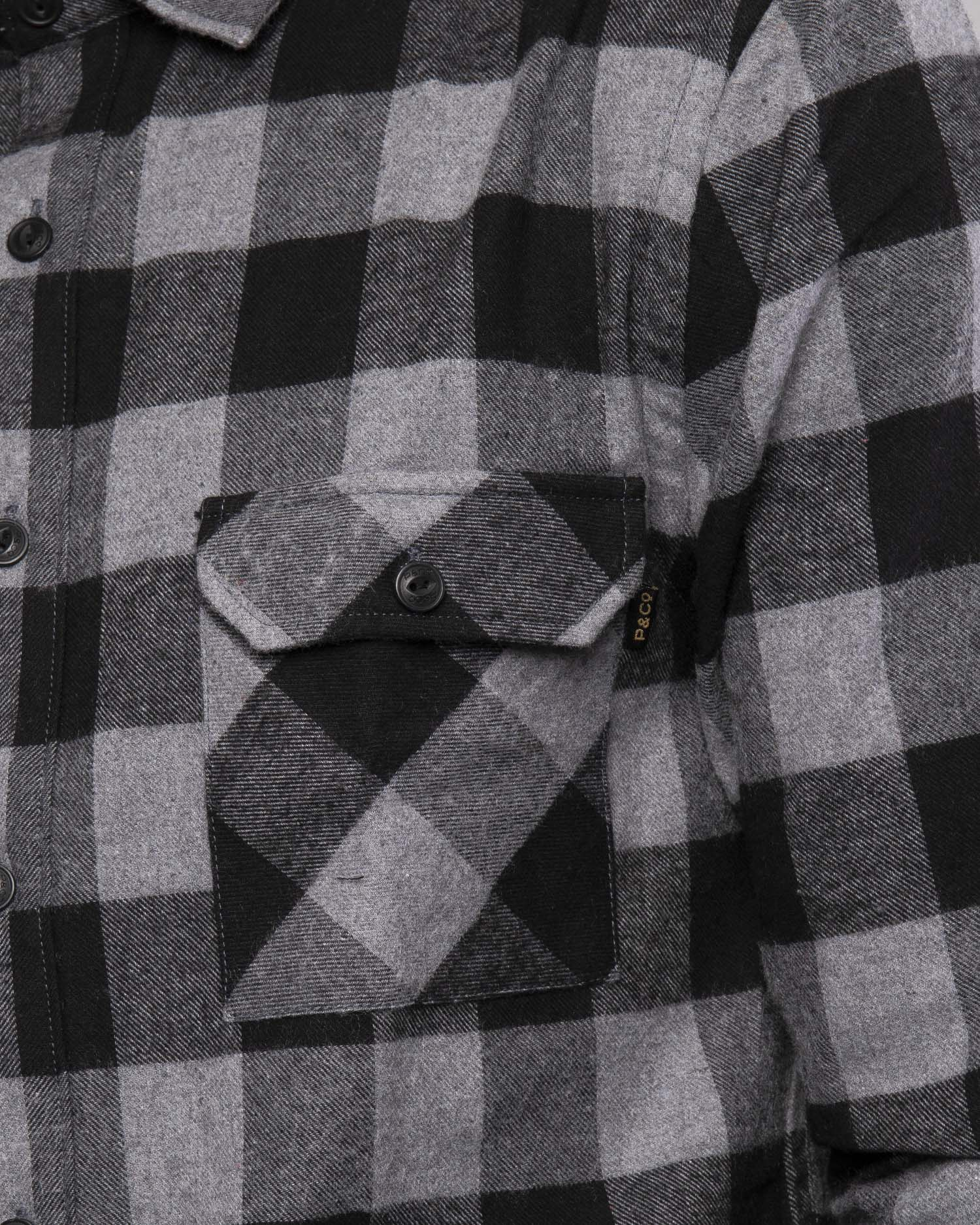Mens Flannel Shirt in Grey