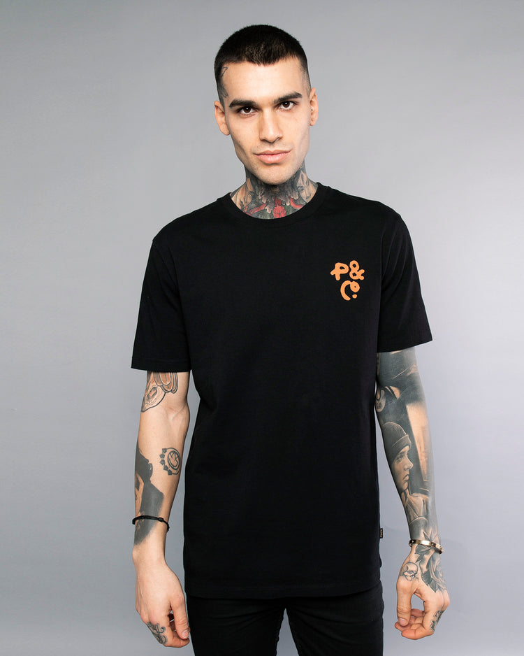 Mens Cobra Black Crewneck Tee
