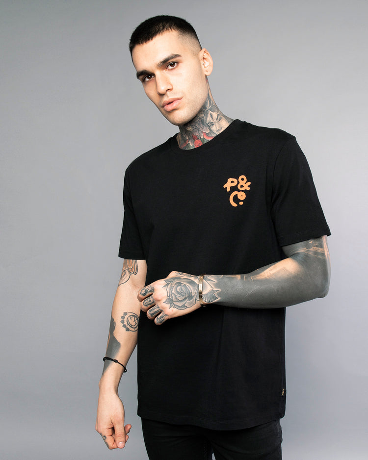 Mens Cobra Black T-Shirt