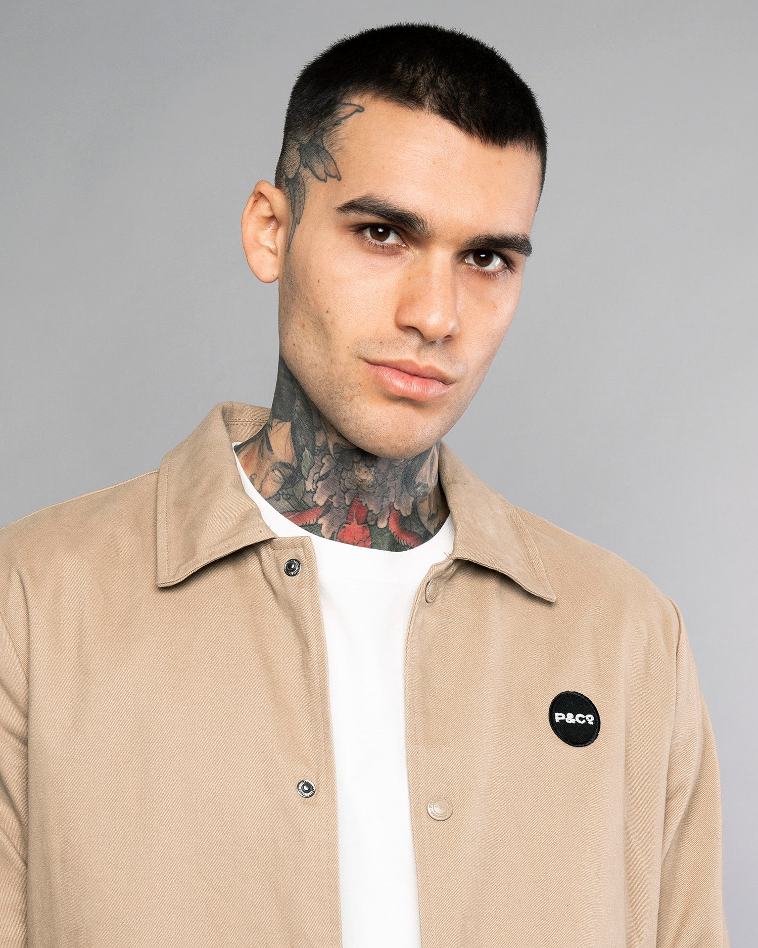 Logo Mens Stone Coach Jacket