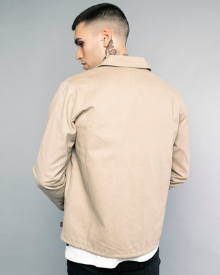 Mens Logo Stone Coach Jacket