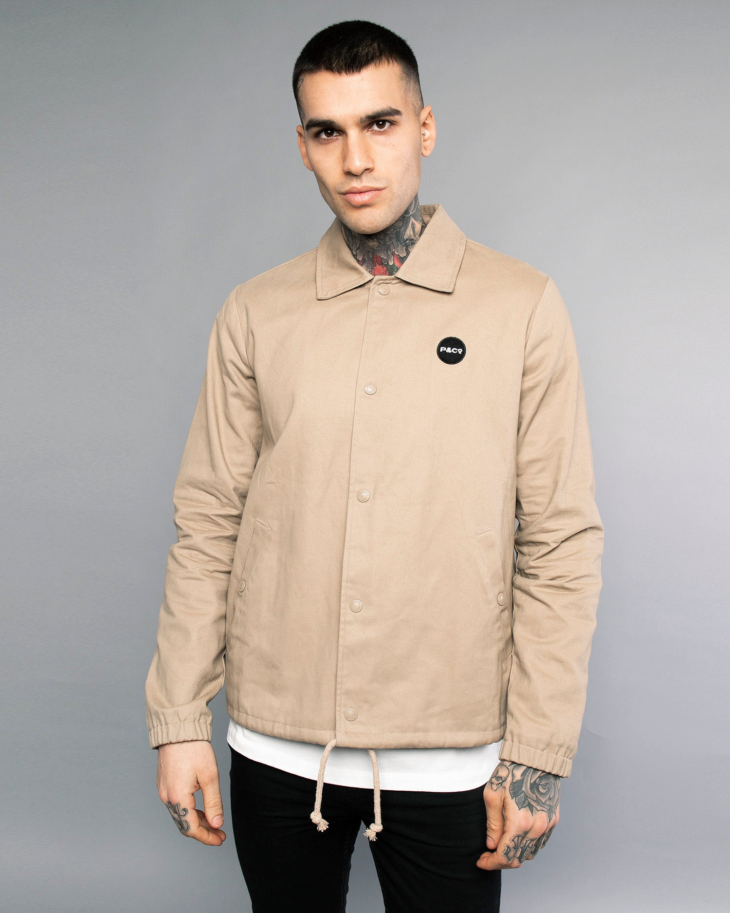 Logo Stone Coach Jacket Mens
