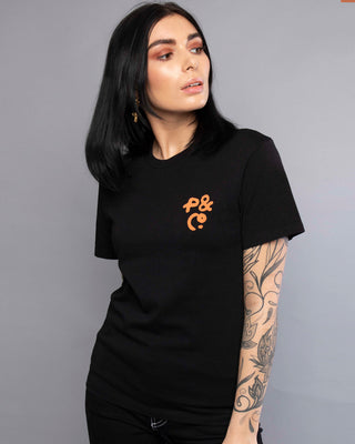 Cobra womens Black Crewneck T-Shirt