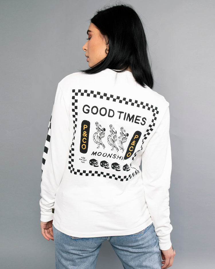 Good Times White Longsleeve womens