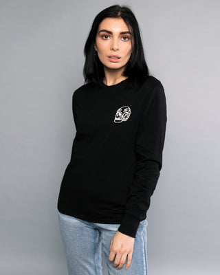 One for the Road Womens Black Longsleeve Tee