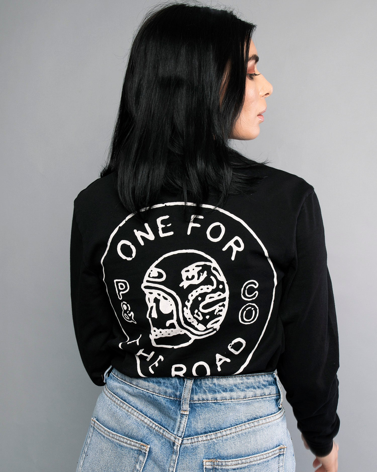 Womens One for the Road Black Longsleeve