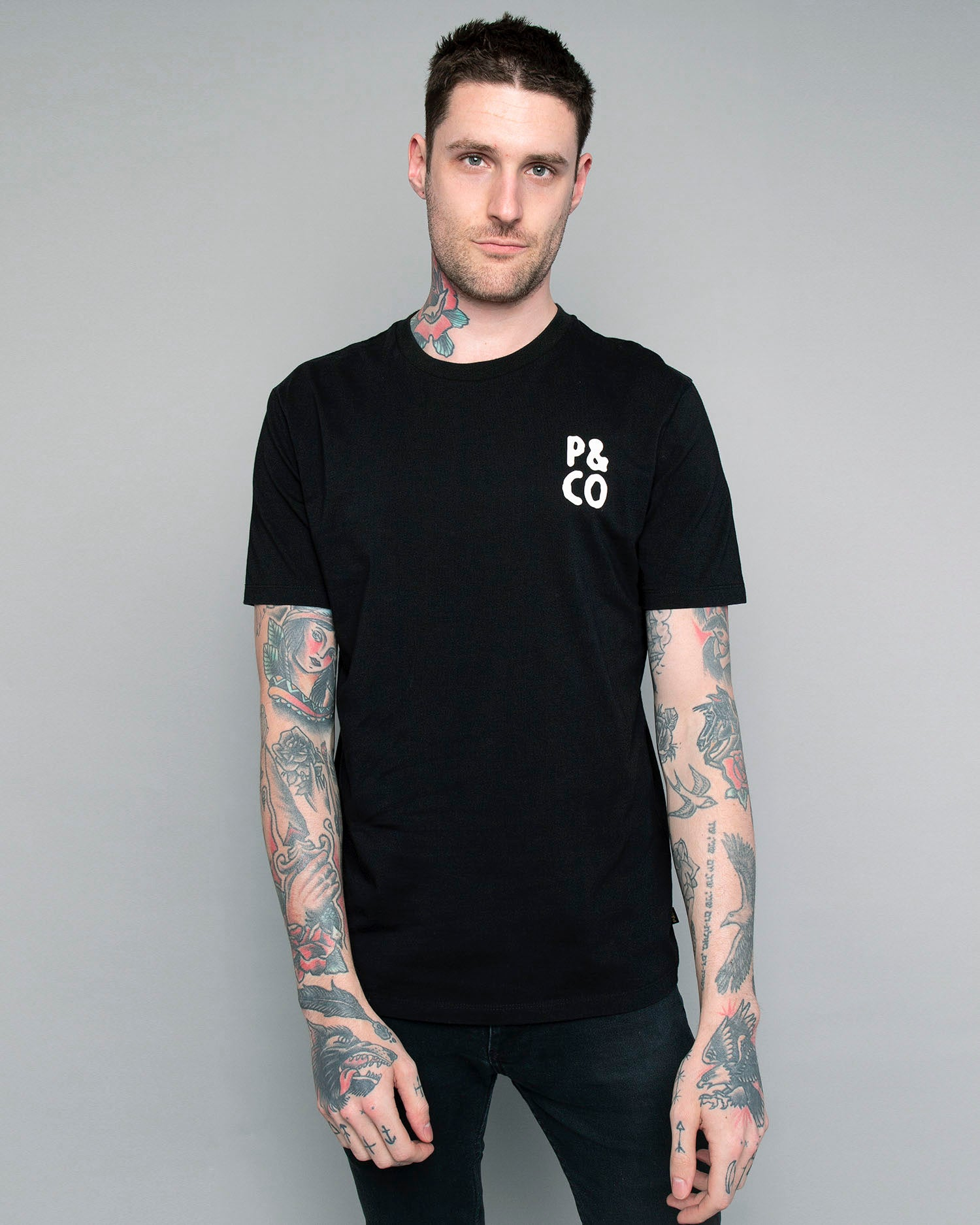 Tiger Black T-Shirt for mens
