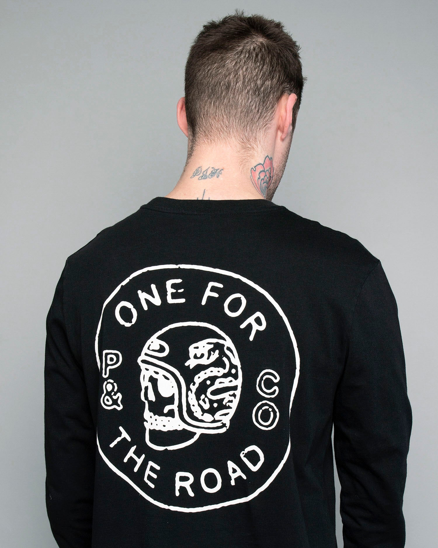 Mens One for the Road Longsleeve black T-Shirt