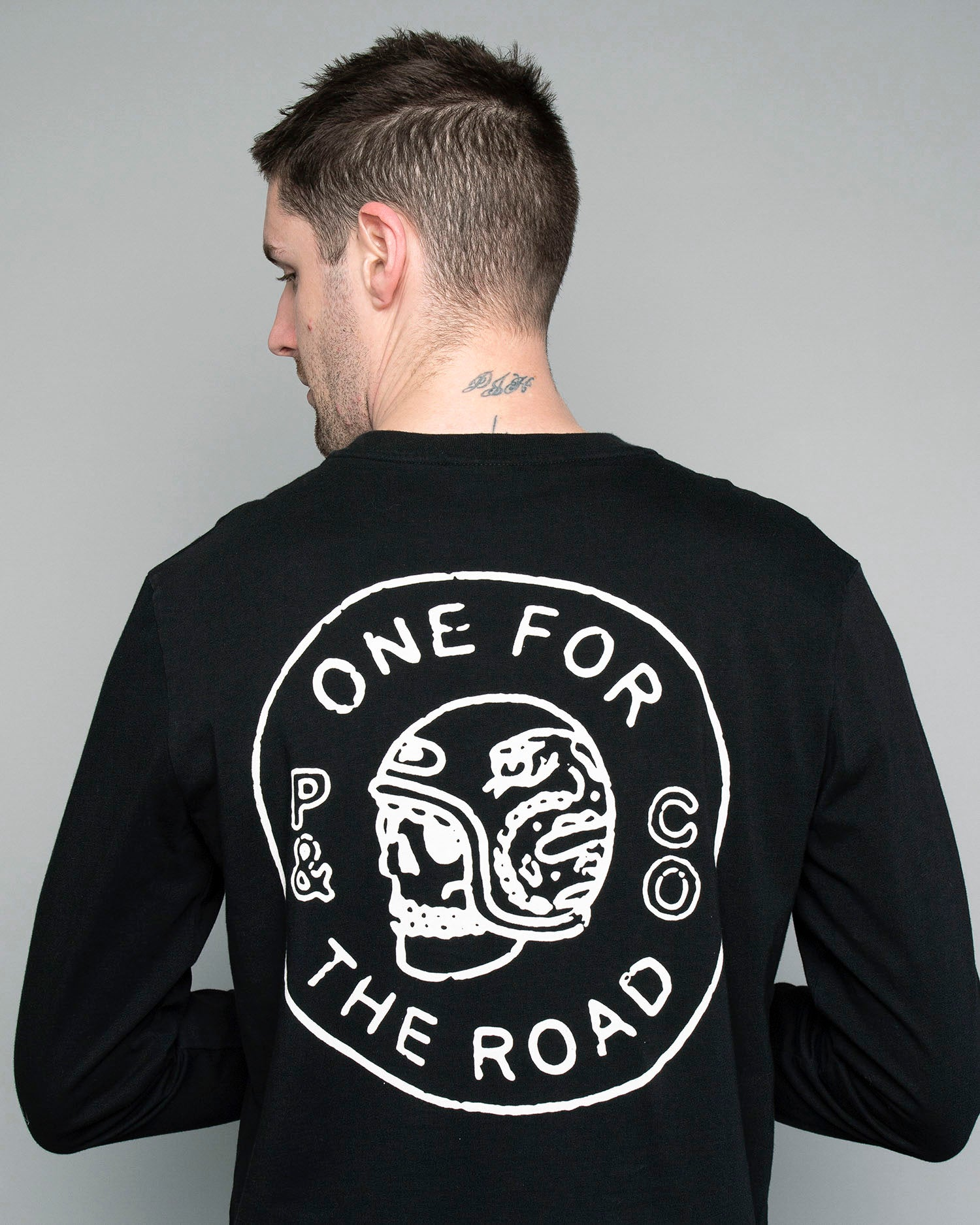 Black longsleeve One for the Road T-Shirt