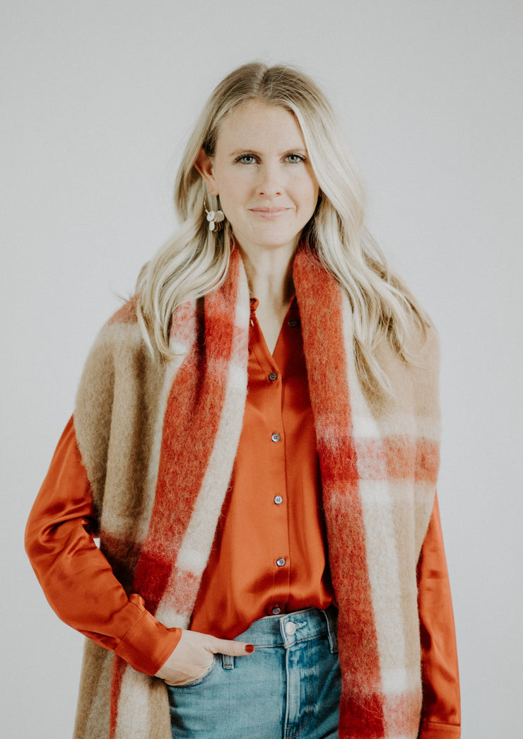Ottodame Plaid Scarf