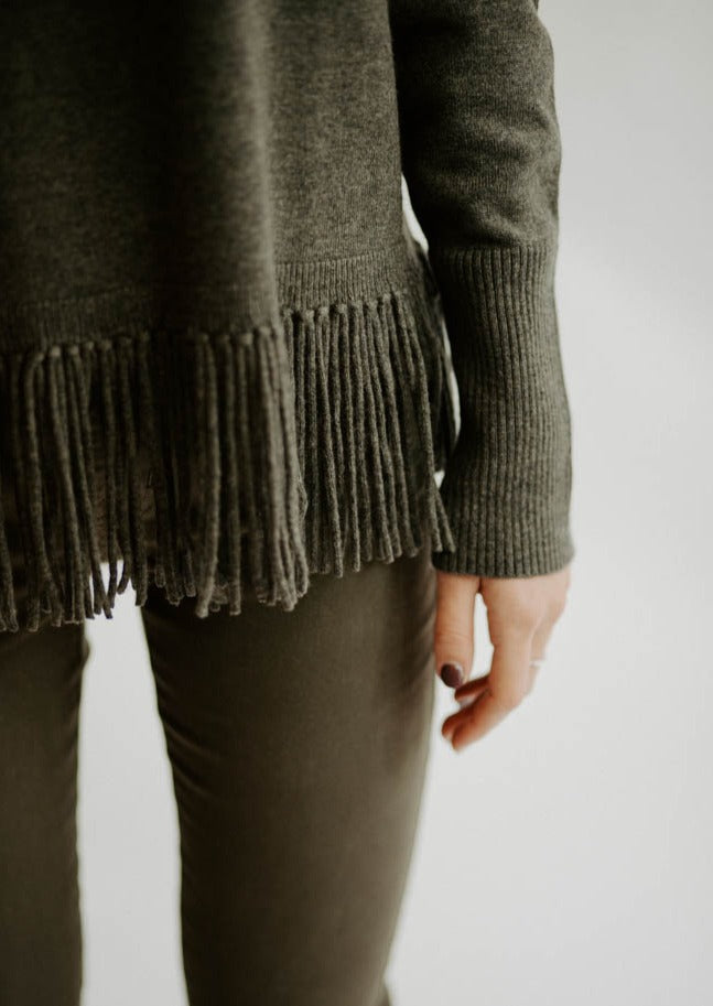 Repeat Fringe Sweater