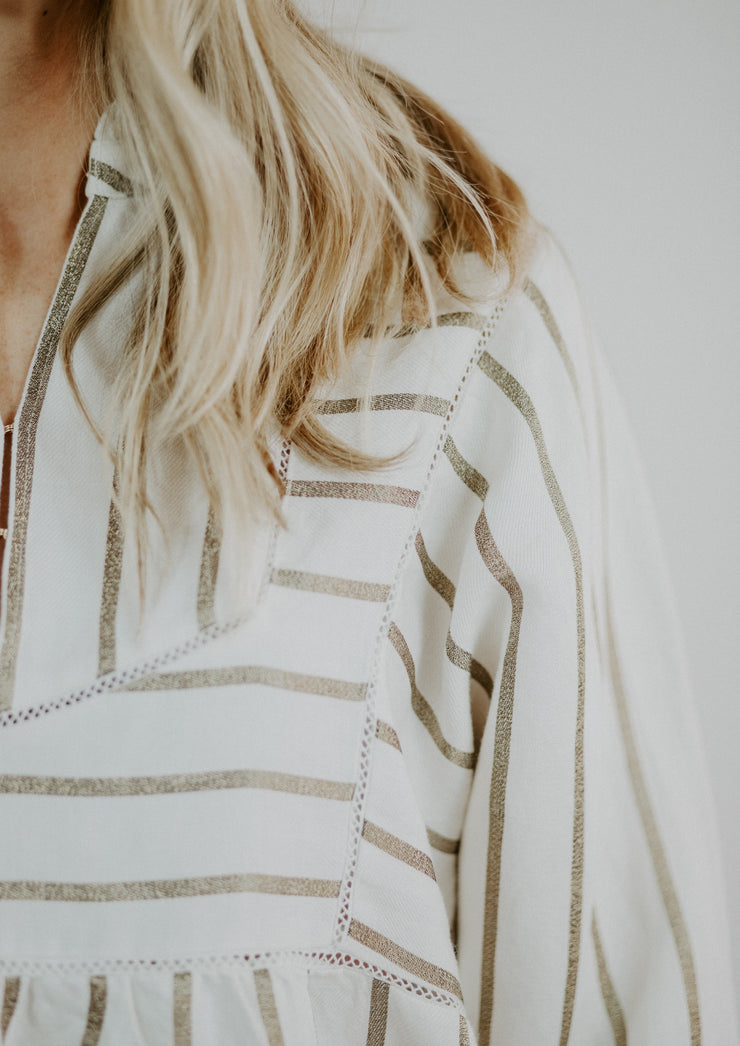 Scotch & Soda Metallic Stripe Top