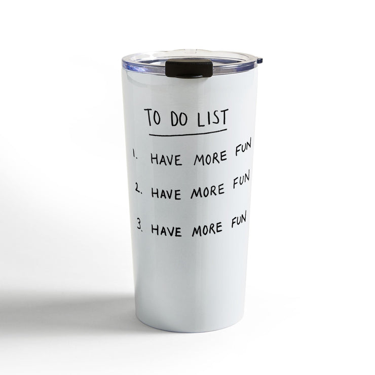 Travel mug to do list