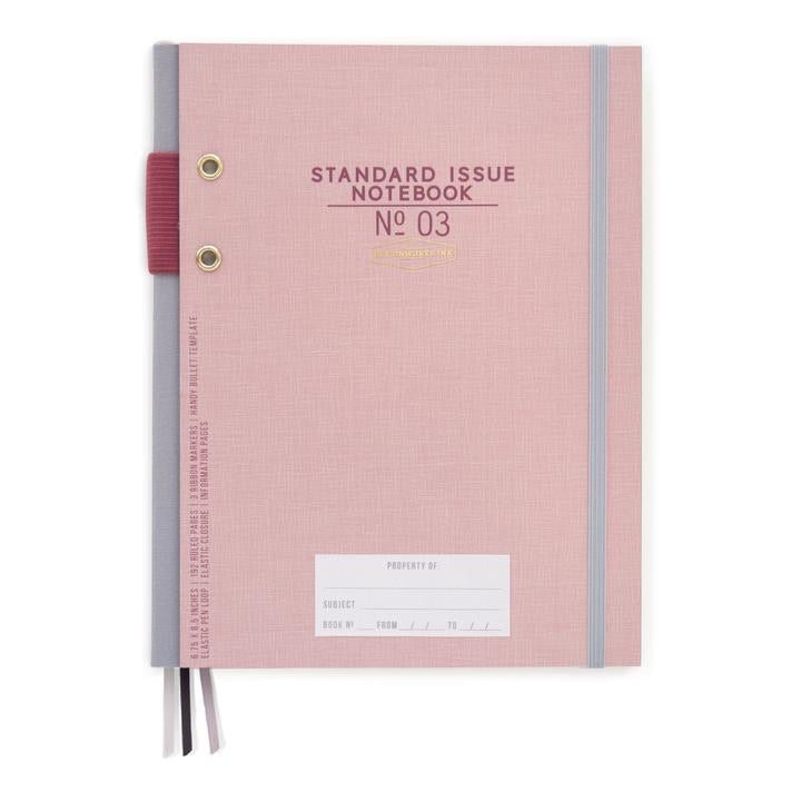 Dusty pink notebook