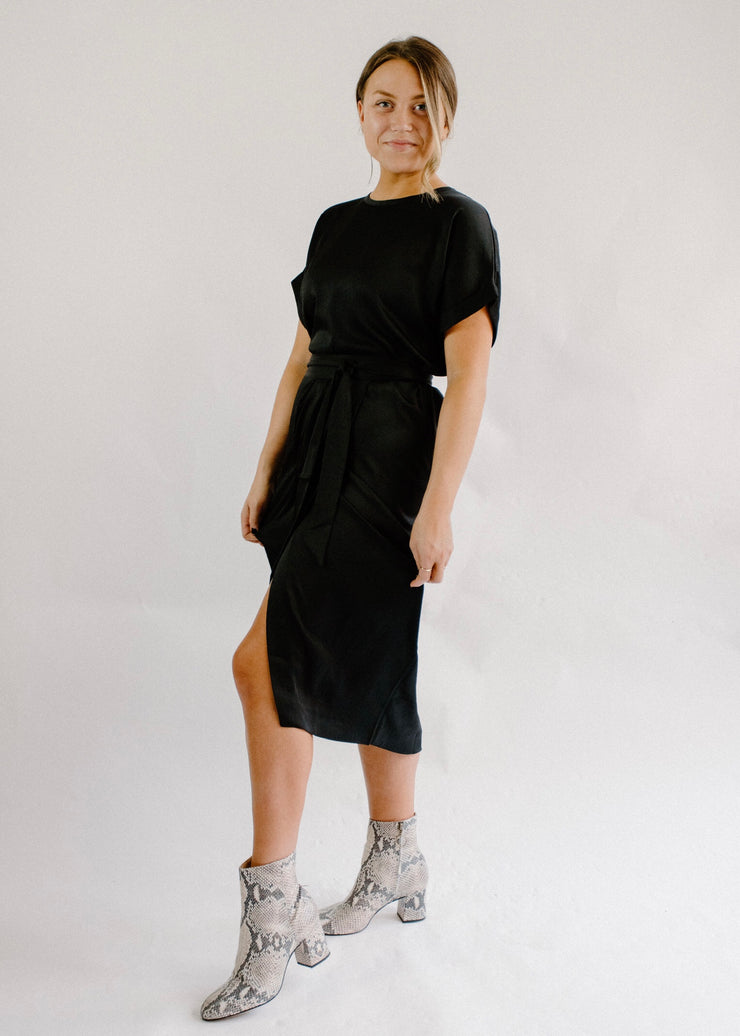 Ba&sh Wrap Black Dress