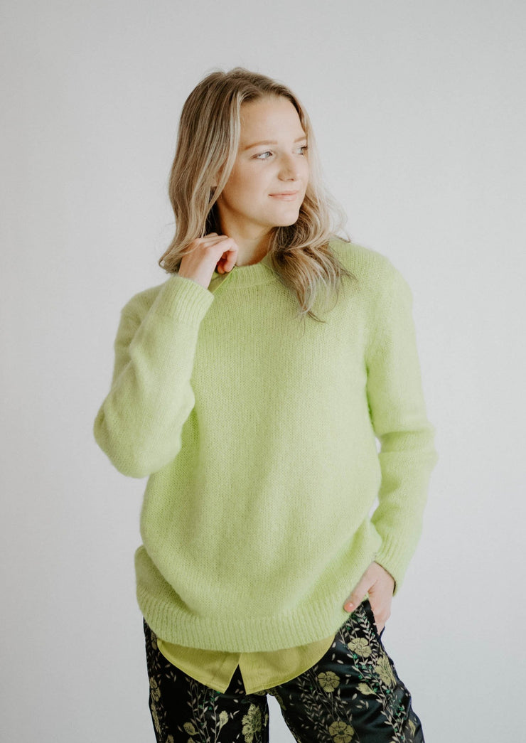 Otto D'ame Lime Sweater