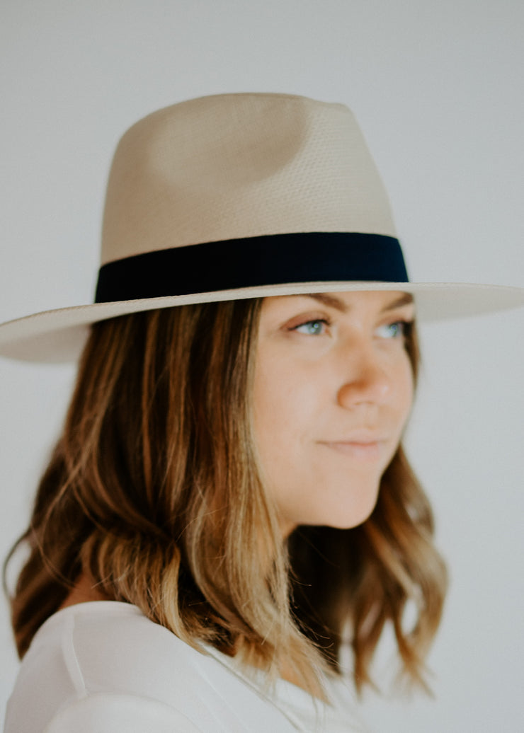 Tan structured hat