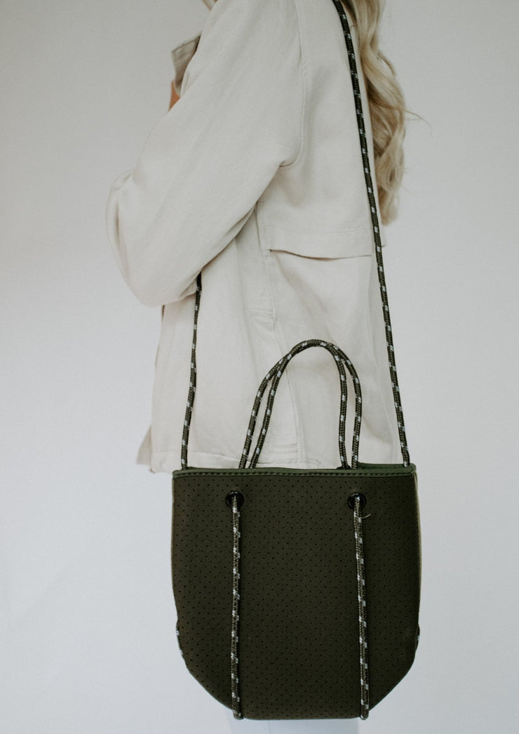 Ahdorned neoprene bag