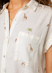 Rails Short Sleeve Giraffe Top