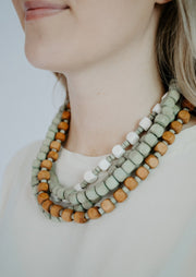 block layered necklace