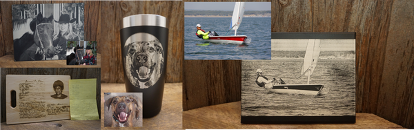 Photo Engraved Products - Drinkware, Aluminum, and Canvas