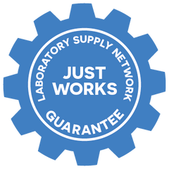 Laboratory Supply Network Just Works Guarantee badge