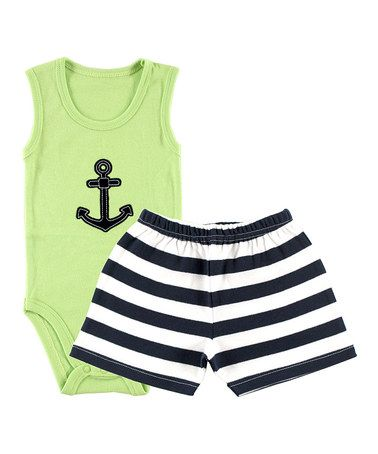Sleeveless Anchor Top and Shorts Set - Dribblebabies