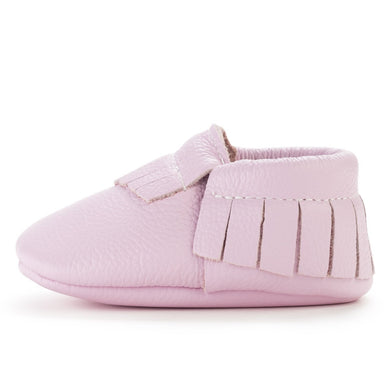 Birdrock Baby Leather Moccassins (Lavendar) - Dribblebabies