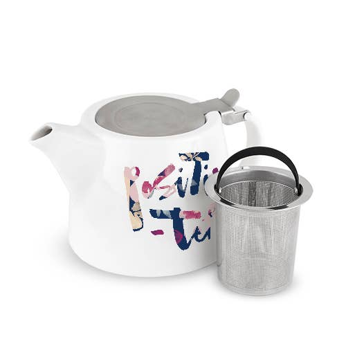 Pinky Up - Harper Positivi-tea Ceramic Teapot & Infuser by Pinky Up