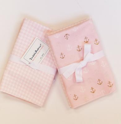 Bamboo/Cotton Blend Receiving Blanket (Houndstooth/Anchor) - Dribblebabies