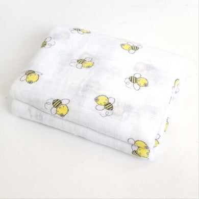 DribbleBabies Swaddle Blanket (Bumble Bee)