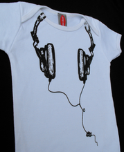 New Skool - New Skool White Headphone Onesie